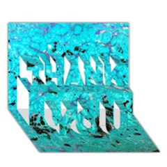 Aquamarine Collection Thank You 3d Greeting Card (7x5)