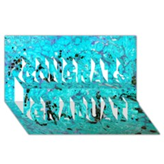 Aquamarine Collection Congrats Graduate 3d Greeting Card (8x4)