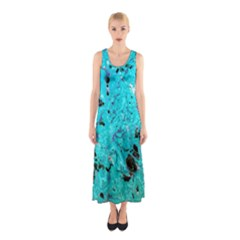 Aquamarine Collection Full Print Maxi Dress