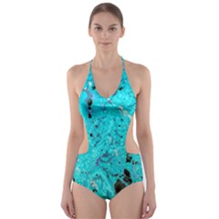 Aquamarine Collection Cut-Out One Piece Swimsuit