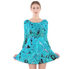 Aquamarine Collection Long Sleeve Velvet Skater Dress