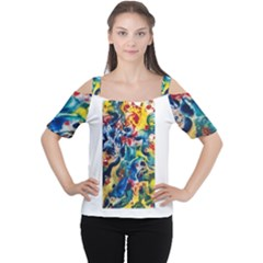 Colors of the world Bighop Collection by Jandi Women s Cutout Shoulder Tee