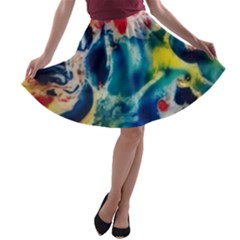 Colors of the world Bighop Collection by Jandi A-line Skater Skirt