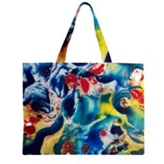 Colors of the world Bighop Collection by Jandi Zipper Large Tote Bag