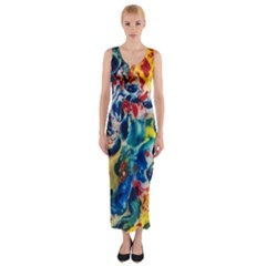 Colors of the world Bighop Collection by Jandi Fitted Maxi Dress