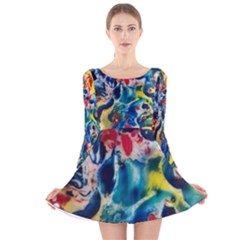 Colors of the world Bighop Collection by Jandi Long Sleeve Velvet Skater Dress