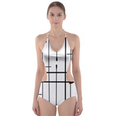 White Limits By Jandi Cut-Out One Piece Swimsuit