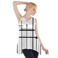 White Limits By Jandi Side Drop Tank Tunic