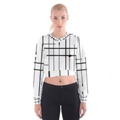 White Limits By Jandi Women s Cropped Sweatshirt