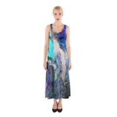 Violet Art Full Print Maxi Dress
