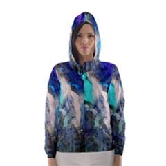 Violet Art Hooded Wind Breaker (women)