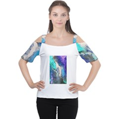 Violet Art Women s Cutout Shoulder Tee