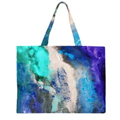 Violet Art Zipper Large Tote Bag