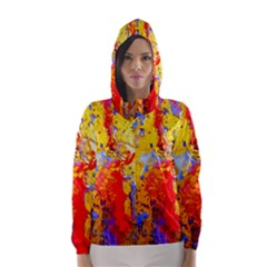Gold And Red Hooded Wind Breaker (Women)