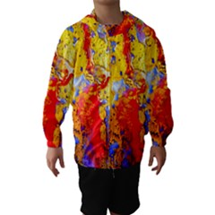 Gold And Red Hooded Wind Breaker (kids)