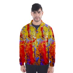 Gold And Red Wind Breaker (men)
