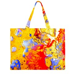 Gold And Red Large Tote Bag