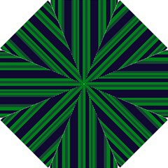 Dark Blue Green Striped Pattern Hook Handle Umbrellas (small)