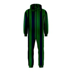 Dark Blue Green Striped Pattern Hooded Jumpsuit (kids)