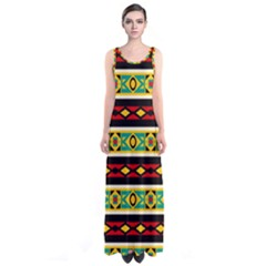 Rhombus chains and other shapes Full Print Maxi Dress