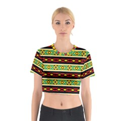 Rhombus chains and other shapes Cotton Crop Top