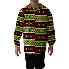 Rhombus chains and other shapes Hooded Wind Breaker (Kids)