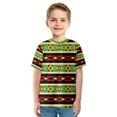 Rhombus Chains And Other Shapes Kid s Sport Mesh Tee