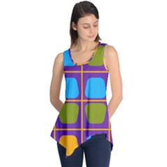 Shapes in squares pattern Sleeveless Tunic