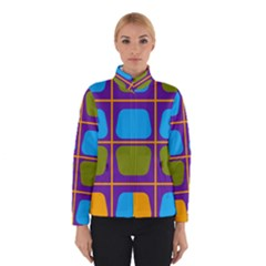 Shapes in squares pattern Winter Jacket