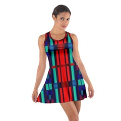 Stripes and rectangles  Cotton Racerback Dress