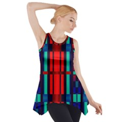 Stripes And Rectangles  Side Drop Tank Tunic