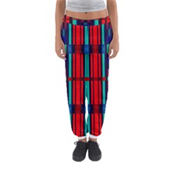 Stripes and rectangles  Women s Jogger Sweatpants