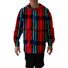 Stripes and rectangles  Hooded Wind Breaker (Kids)