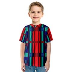 Stripes and rectangles  Kid s Sport Mesh Tee