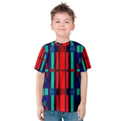 Stripes And Rectangles  Kid s Cotton Tee