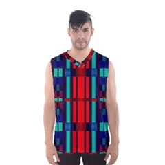 Stripes and rectangles  Men s Basketball Tank Top