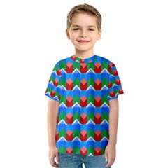 Shapes rows Kid s Sport Mesh Tee
