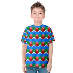 Shapes Rows Kid s Cotton Tee