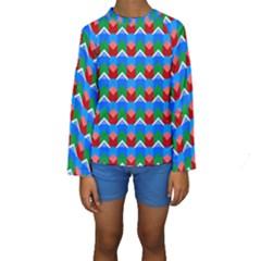 Shapes Rows  Kid s Long Sleeve Swimwear