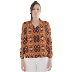 Brown Leaves Pattern Wind Breaker (women)