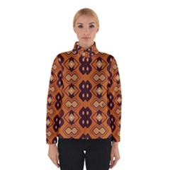 Brown leaves pattern Winter Jacket