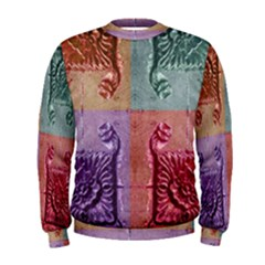Vintage Flower Squares Men s Sweatshirt