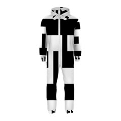 Black And White Hooded Jumpsuit (kids)
