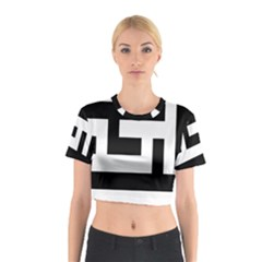 Black and White Cotton Crop Top