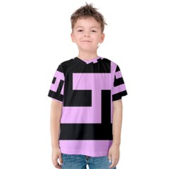 Black and Pink Kid s Cotton Tee