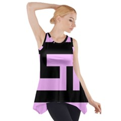 Black and Pink Side Drop Tank Tunic