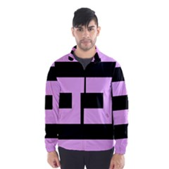 Black And Pink Wind Breaker (men)
