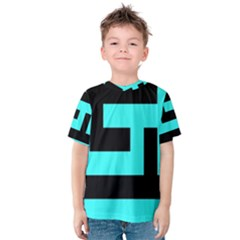 Black and Teal Kid s Cotton Tee