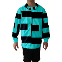 Black and Teal Hooded Wind Breaker (Kids)