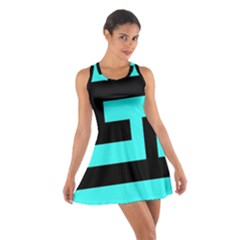 Black and Teal Racerback Dresses